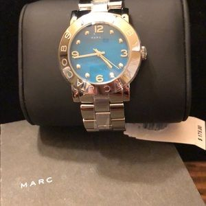 MARC by Marc Jacobs NWT Silver Turquoise Watch